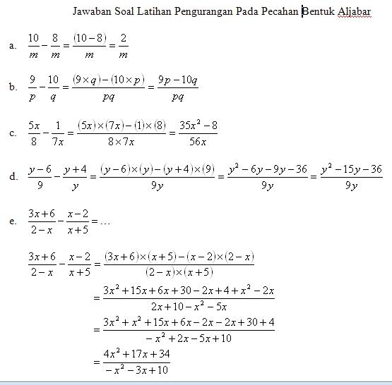 Pembahasan Soal Kelas 8 2 Matematika Awan Asyik