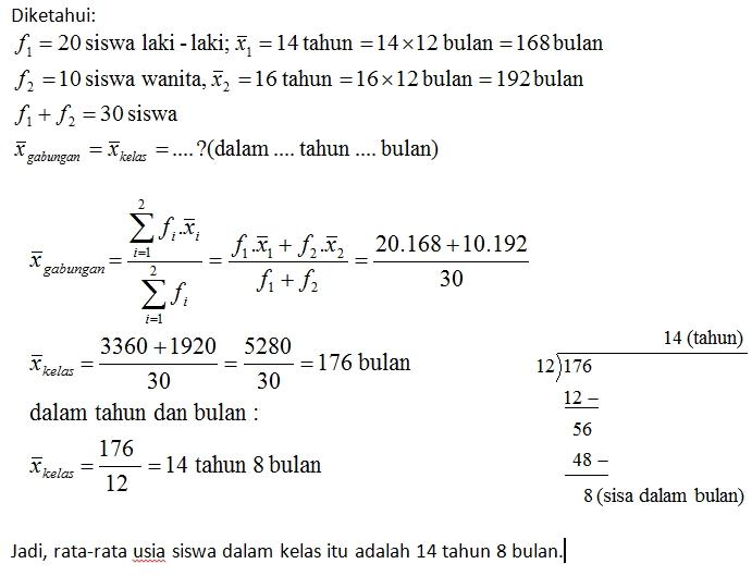 Menghitung Rata Rata Hitung Seribu Rumus