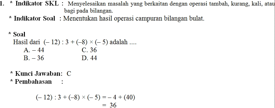Soal Uji Kompetensi Guru Matematika